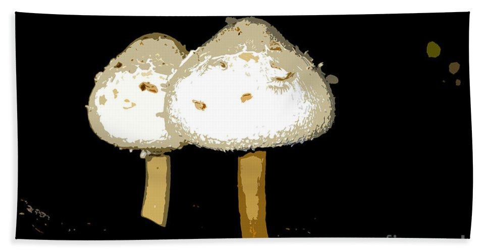 Mushrooms Hand Towel featuring the photograph Mushrooms For Two Work Number 11 by David Lee Thompson