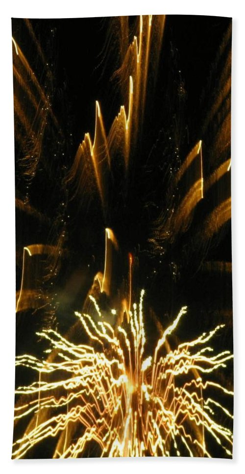 Fireworks Hand Towel featuring the photograph Music To My Eyes by Rhonda Barrett