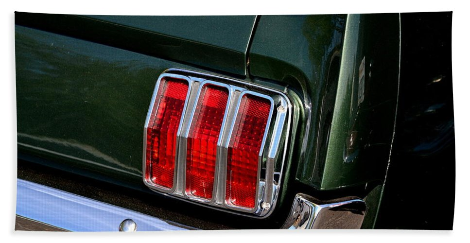 Hand Towel featuring the photograph Mustang Tail Light by Dean Ferreira