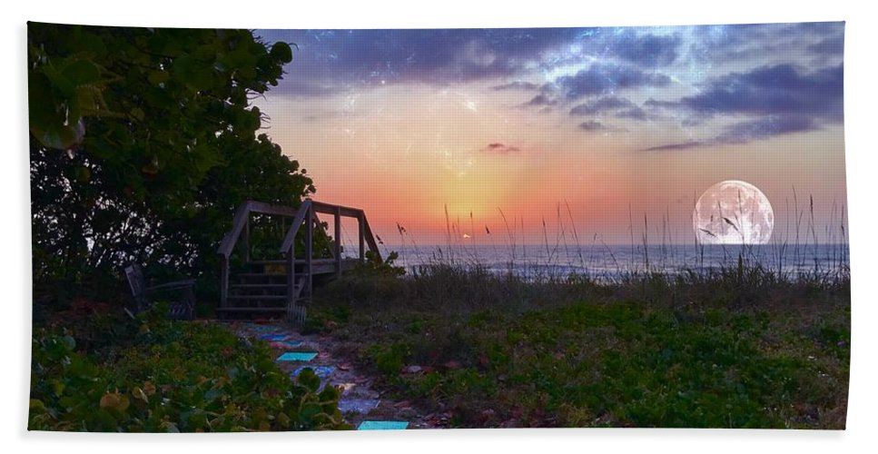 Sunrise Bath Sheet featuring the photograph My Atlantic Dream by Carlos Avila