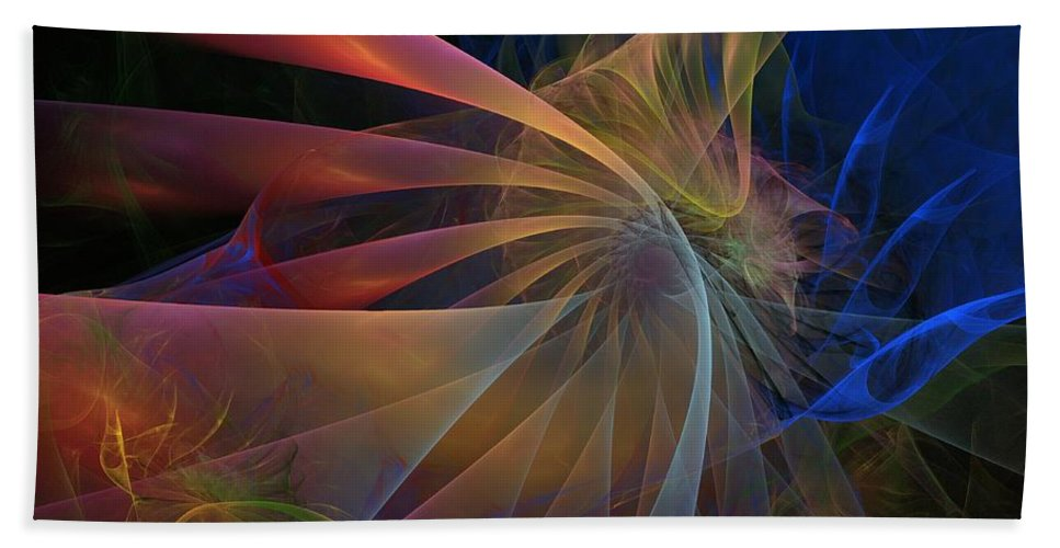 Graffiti Bath Sheet featuring the digital art My Brothers Voice by NirvanaBlues