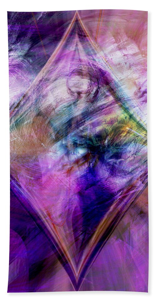 Diamond Bath Sheet featuring the digital art My Diamond by Linda Sannuti