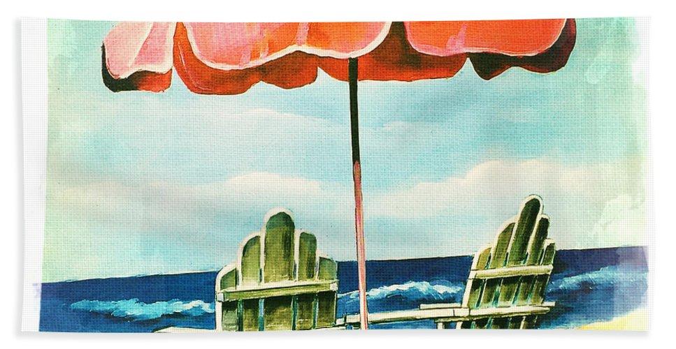 My Favorite Secret Beach Spot Bath Sheet featuring the photograph My Favorite Secret Beach Spot by Nina Prommer