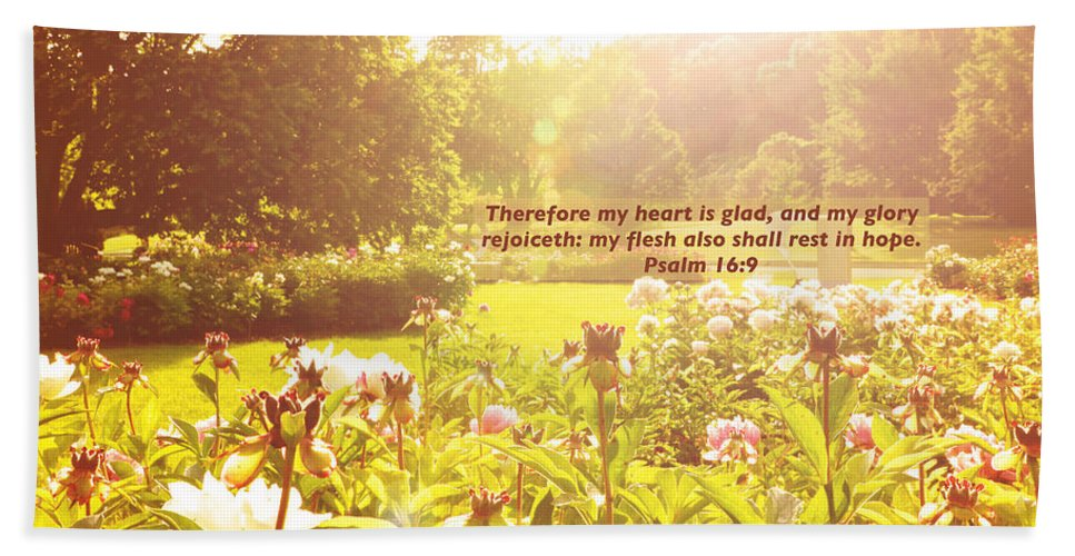 Boerner Botanical Gardens Hand Towel featuring the photograph My Heart Is Glad by Debbie Nobile