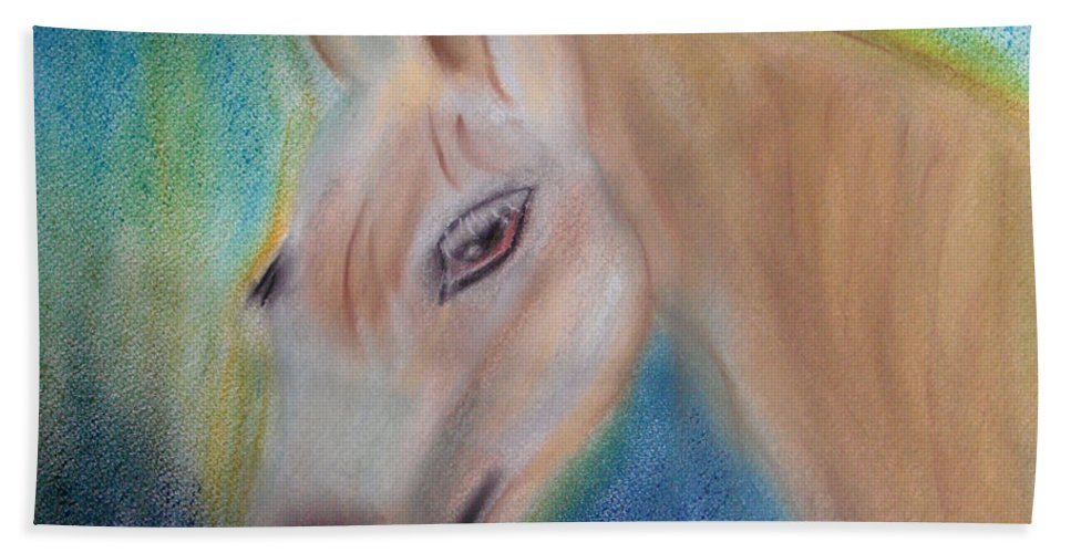 Pony Bath Sheet featuring the pastel My Little Pony by Donna Blackhall