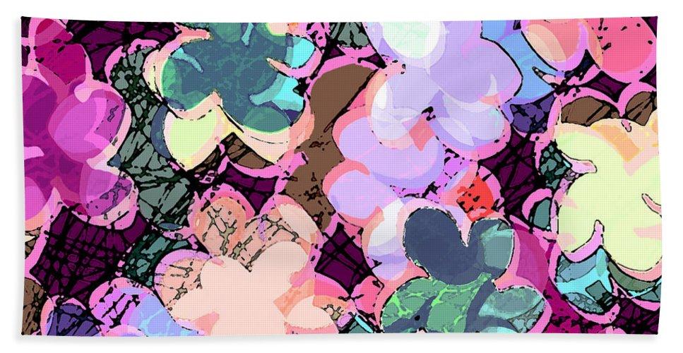 Abstract Bath Sheet featuring the digital art My Little World by Rachel Christine Nowicki