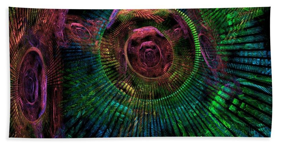 Fractal Bath Towel featuring the digital art My Mind's Eye by Lyle Hatch