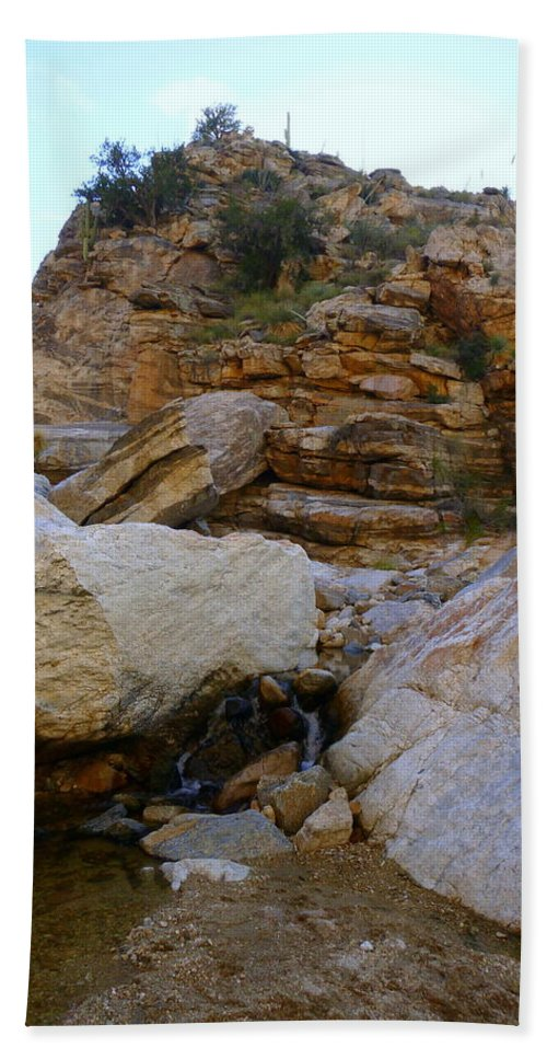 Tucson Hand Towel featuring the photograph My Mountain Hiking Spot by Teresa Stallings