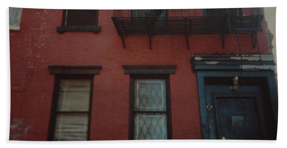 Lower East Side Bath Sheet featuring the photograph My Pops First Home In The United States by Rob Hans