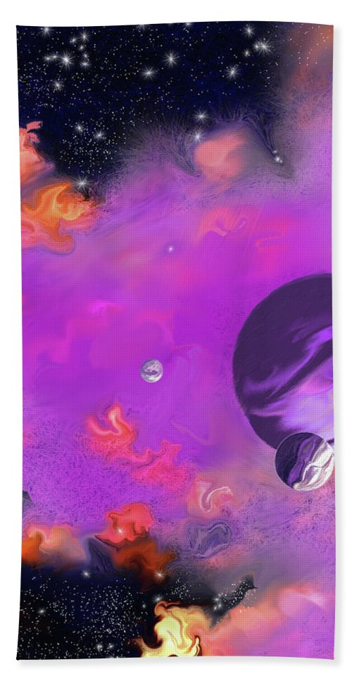 My Space Bath Sheet featuring the painting My Space by Methune Hively