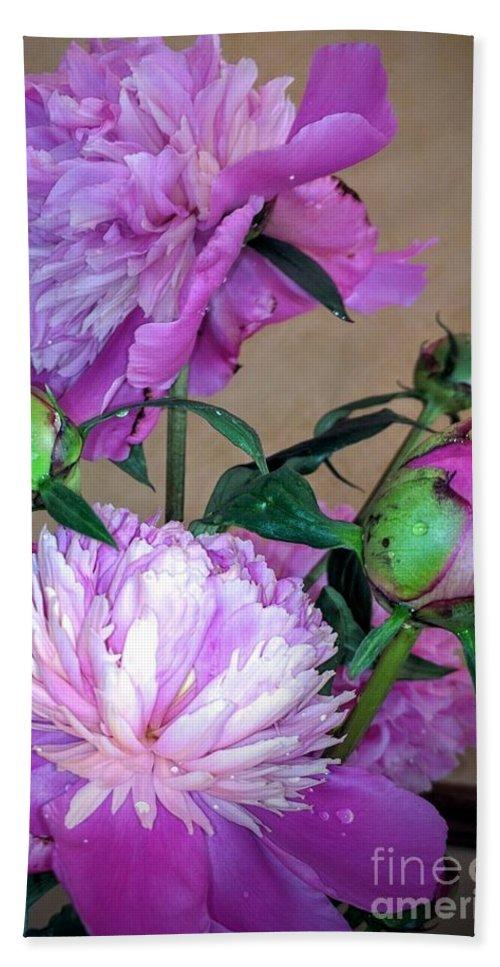 Spring Garden Bath Sheet featuring the photograph My Spring Garden Peony by Jane Butera Borgardt