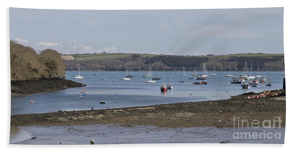 Water Hand Towel featuring the photograph Mylor Panorama by Terri Waters