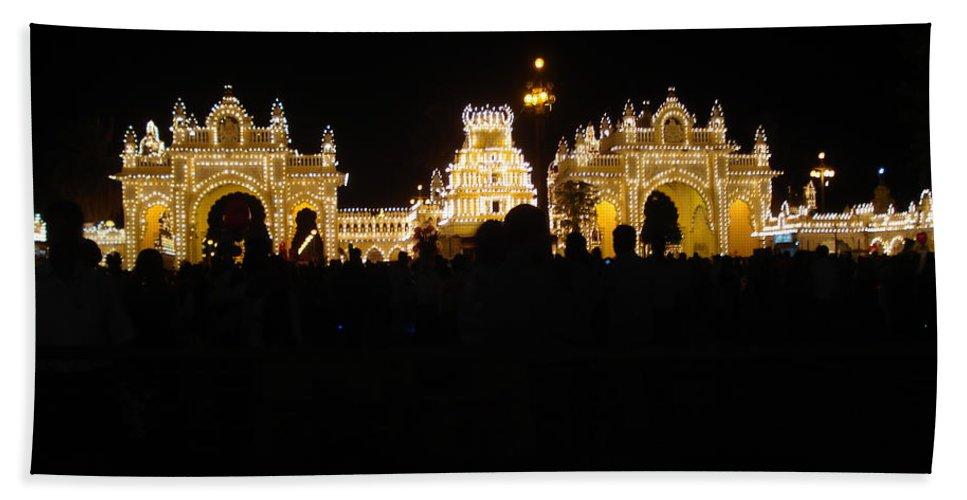 Mysore Hand Towel featuring the photograph Mysore Palace 2 by Usha Shantharam