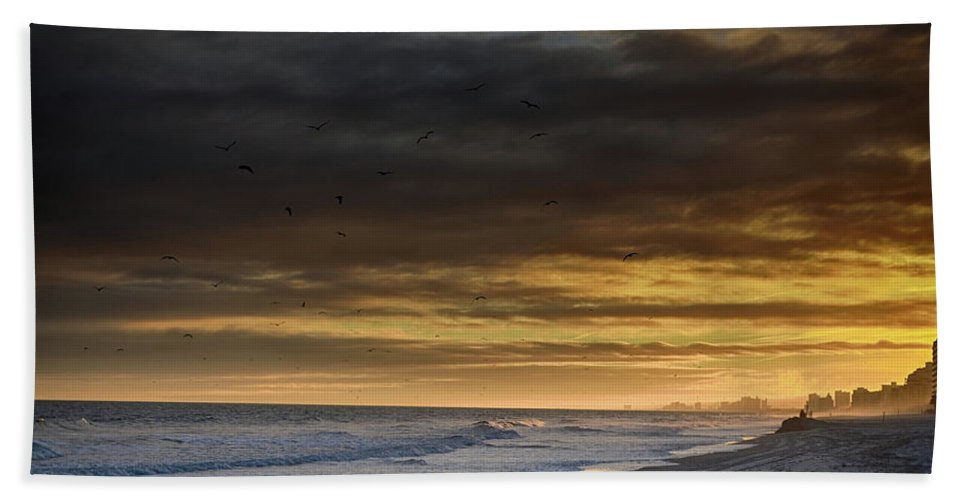 Atlantic Bath Towel featuring the photograph Mysterious Myrtle Beach by Kelly Reber
