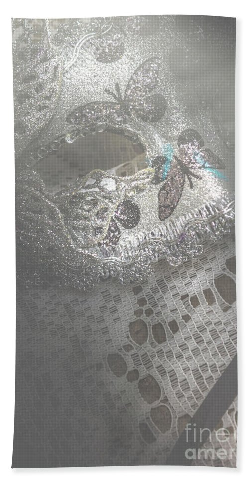 Theater Bath Towel featuring the photograph Mysterious Pantomime Play by Jorgo Photography - Wall Art Gallery
