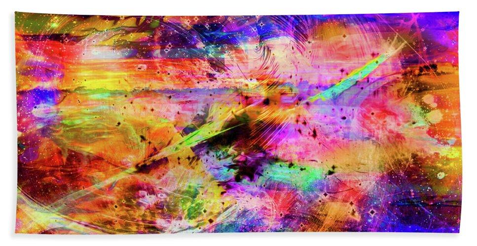 World's Bath Sheet featuring the digital art Mysterious Sunset Debris by Ron Fleishman