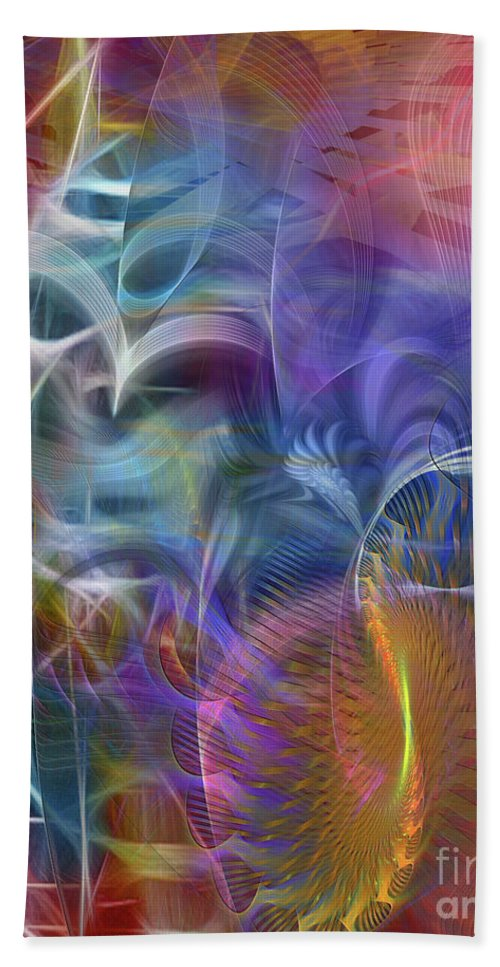Affordable Art Hand Towel featuring the digital art Mystery Of Light by John Beck