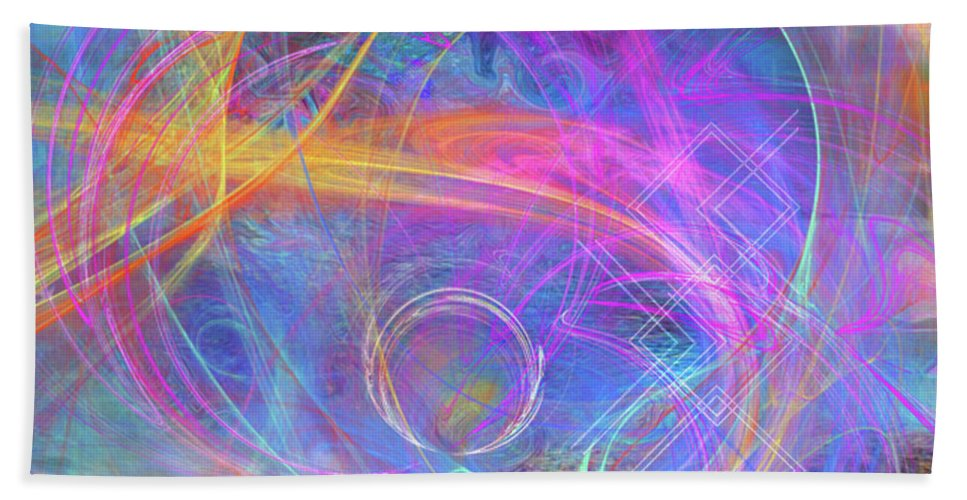 Mystic Beginning Bath Sheet featuring the digital art Mystic Beginning by John Beck