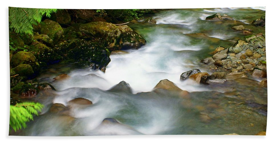 Creek Bath Sheet featuring the photograph Mystic Creek by Marty Koch