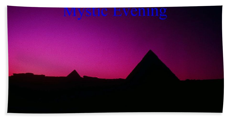 Egypt Hand Towel featuring the photograph Mystic Evening by Gary Wonning