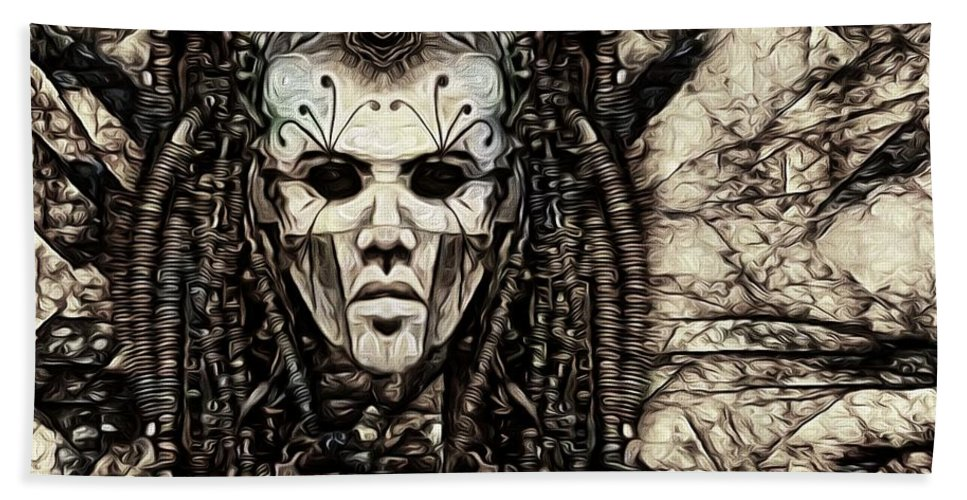 Mystic Future And Past - Ion Prophecies Hand Towel featuring the photograph Mystic Future And Past - Ion Prophecies - Monotone by Daniel Arrhakis