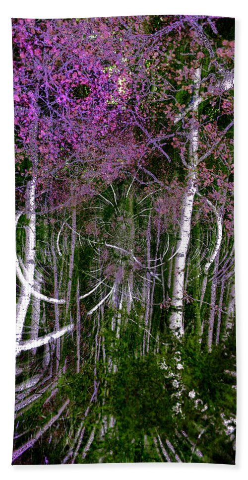 Trees Bath Sheet featuring the photograph Mystic Woods by Mykel Davis