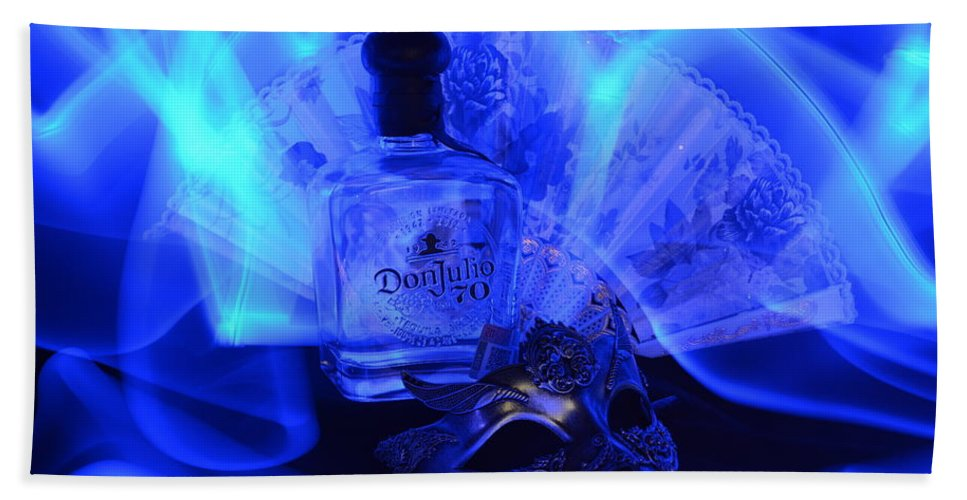 Bottle Bath Towel featuring the photograph Mystique blue by Paulina Roybal