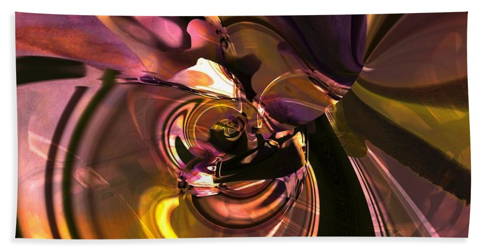 Abstract Hand Towel featuring the digital art N Folds by Richard Thomas