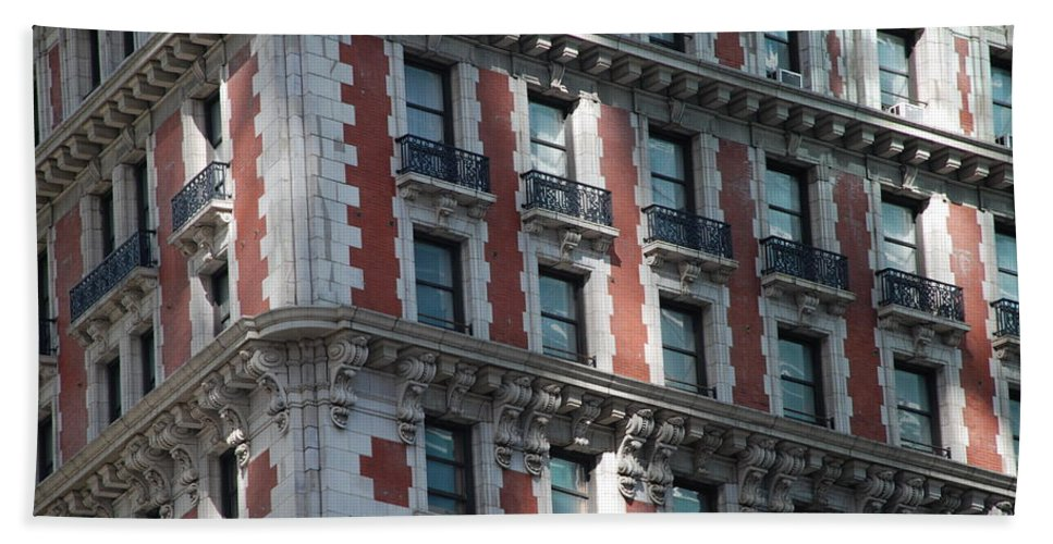 New York City Hand Towel featuring the photograph N Y C Architecture by Rob Hans