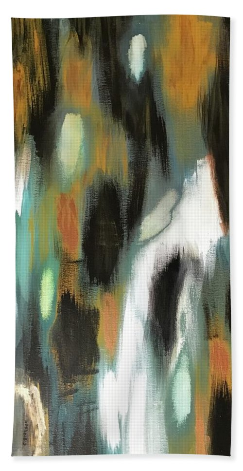 No Escape Bath Sheet featuring the painting Nadie Le Escapa by Christian Branson