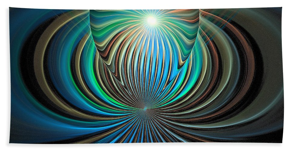 Digital Art Bath Towel featuring the digital art Namaste by Amanda Moore