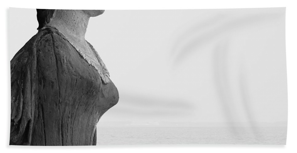 Nantucket Hand Towel featuring the photograph Nantucket Figurehead by Charles Harden