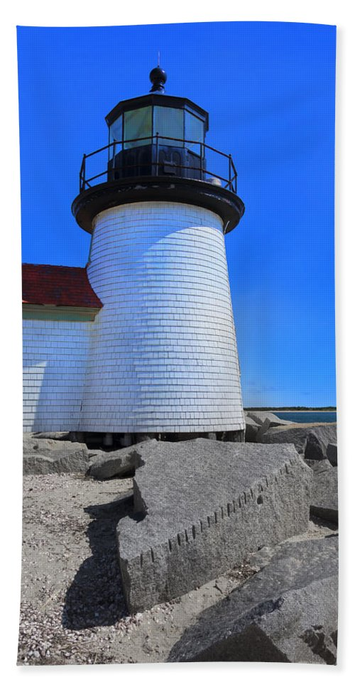 Lighthouse Bath Sheet featuring the photograph Nantucket Lighthouse Y1 by Carlos Diaz
