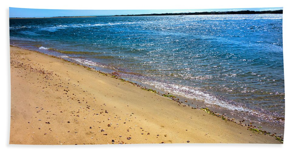 Nantucket Sound Bath Sheet featuring the photograph Nantucket Sound - Y1 by Carlos Diaz