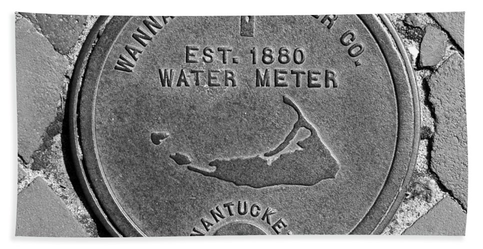 Nantucket Hand Towel featuring the photograph Nantucket Water Meter Cover by Charles Harden