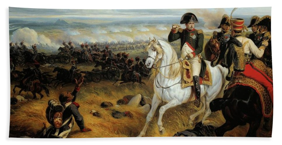 Napoleon In Wagram July 1809 Bath Sheet featuring the painting Napoleon In Wagram by Joseph Louis