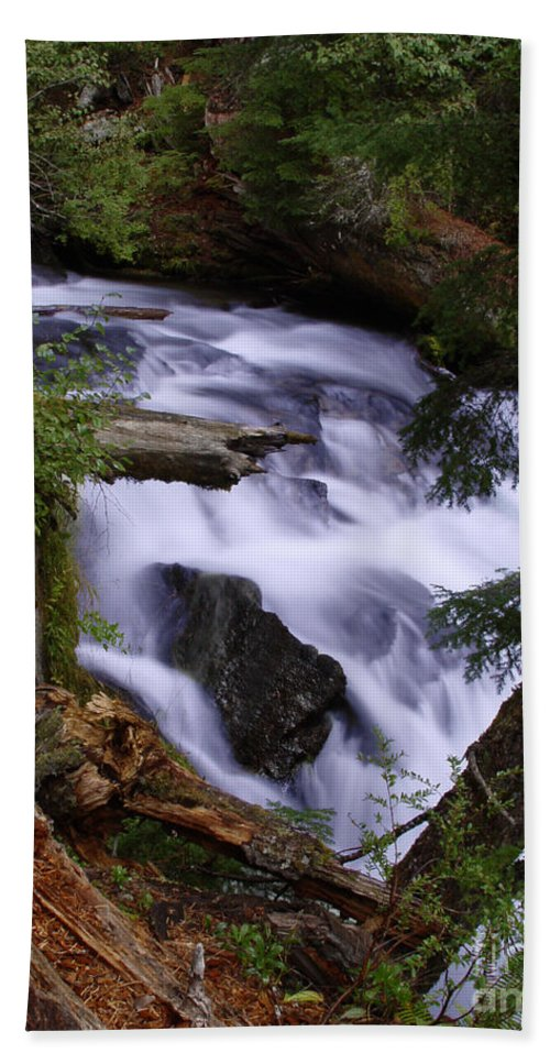 Waterfall Hand Towel featuring the photograph National Creek Falls 03 by Peter Piatt