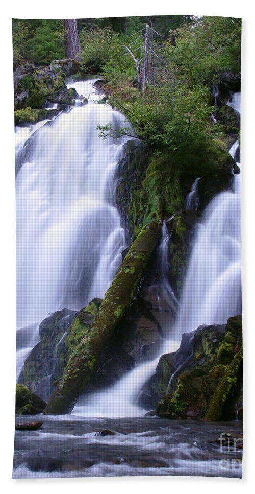 Waterfall Bath Towel featuring the photograph National Creek Falls 09 by Peter Piatt