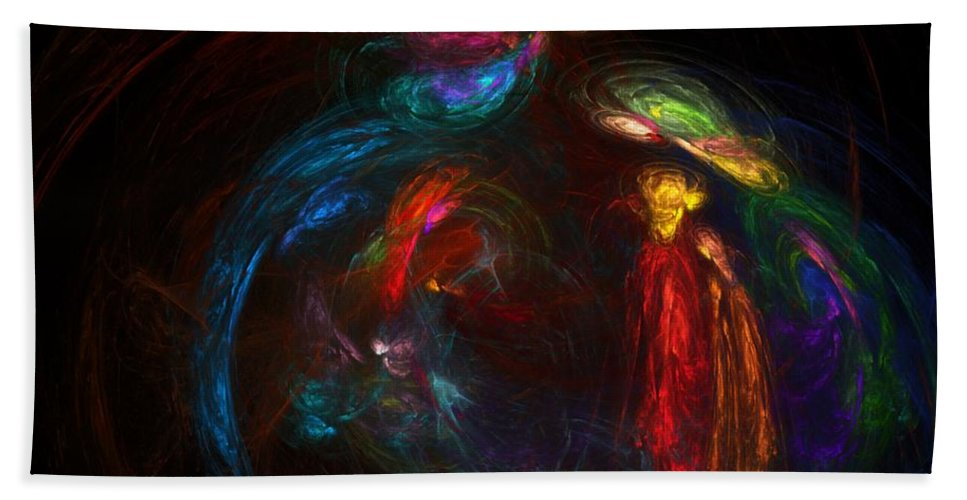 Fine Art Hand Towel featuring the digital art Nativity by David Lane