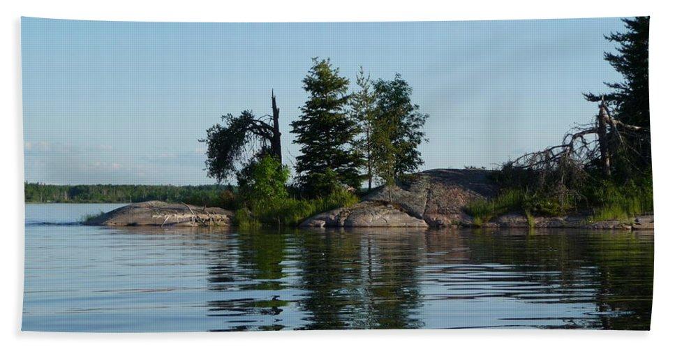 Lake Bath Towel featuring the photograph Natural Breakwater by Ruth Kamenev