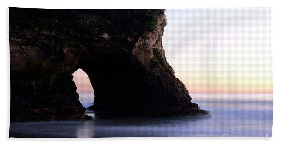 California Bath Sheet featuring the photograph Natural Bridges Detail by Bob Christopher