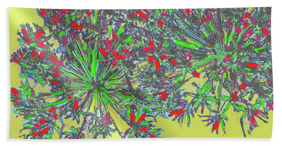 Abstract Bath Sheet featuring the digital art Natural Spiral by Ian MacDonald