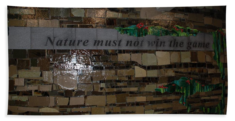 Nature Hand Towel featuring the photograph Nature Must Not Win The Game by Rob Hans
