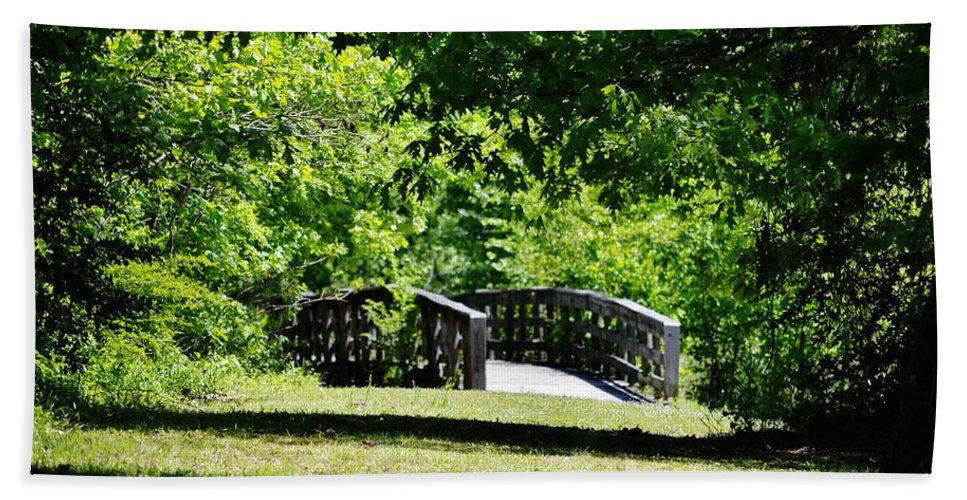 Walkway Hand Towel featuring the photograph Nature Trail by Eileen Brymer