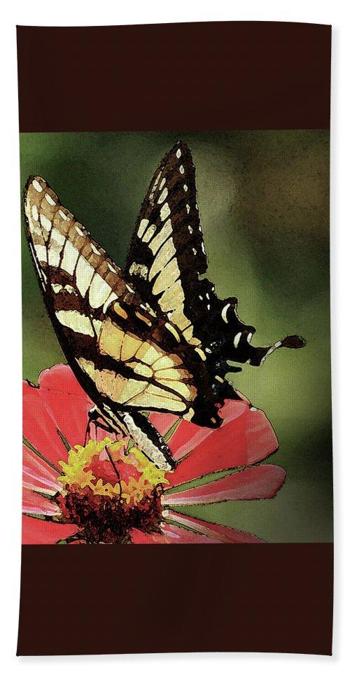 Butterflies Hand Towel featuring the digital art Nature's Beauty by Kim Henderson