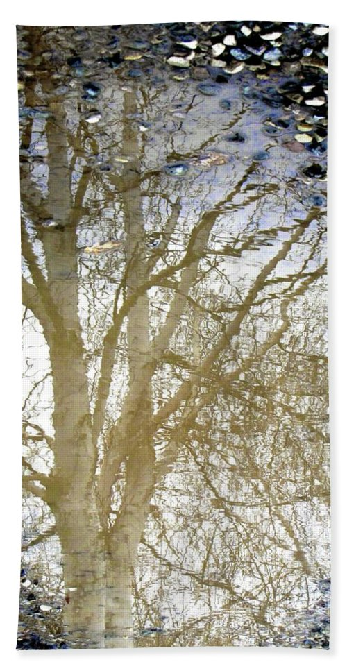 Puddle Bath Sheet featuring the photograph Natures Looking Glass 4 by September Stone