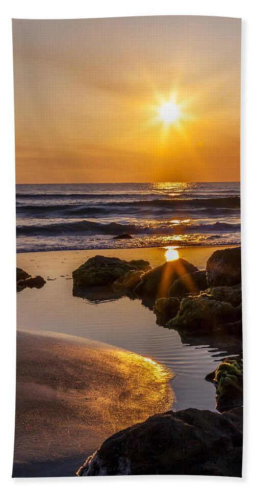 Sunrise Hand Towel featuring the photograph Nature's Masterpiece by Janet Fikar
