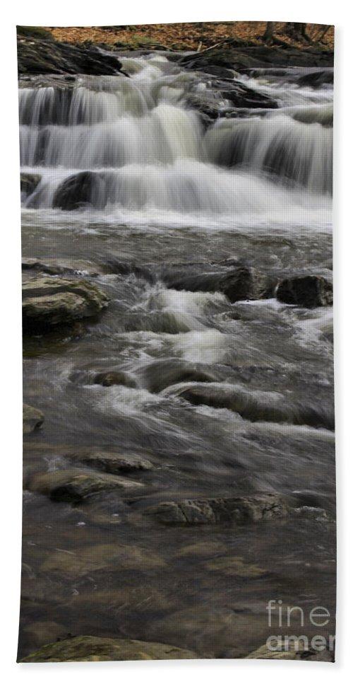 Brook Hand Towel featuring the photograph Natures Water Beauty by Deborah Benoit