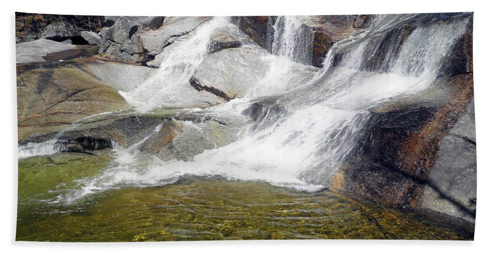 Waterfall Bath Sheet featuring the photograph Natures Waterslide by Ann Gilman