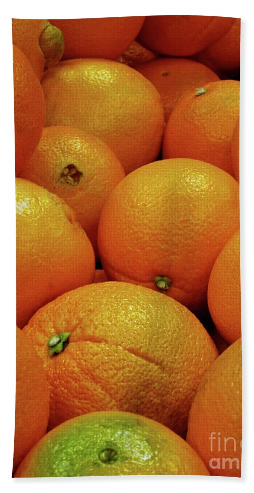 Navel Oranges Hand Towel featuring the photograph Navel Oranges by Methune Hively
